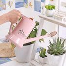 澆花壺塑料長嘴噴壺灑水壺花灑壺可愛家用綠植盆栽澆花器  QM『艾麗花園』