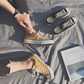 方少港風男裝三金冠 春夏韓版小清新男士多色低筒帆布鞋休閒鞋  巴黎街頭