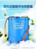 農用噴霧器 背負式電動噴霧器農用自動高壓農機鋰電池充電多功能打機噴壺 莫妮卡小屋YXS