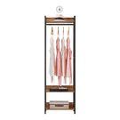 【森可家居】漢諾瓦2尺單吊衣櫥 (單只-編號4) 8CM573-4 開放式 木紋質感 工業風
