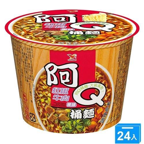 統一阿Q桶麵紅椒牛肉101Gx3x8【愛買】