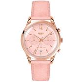 【台南 時代鐘錶 Henry London】英倫復古風潮 瑰麗晶鑽計時腕錶 HL39-CS-0158 皮帶 34mm