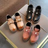 秋冬新款女童公主水鉆羅馬低筒短靴中大童鞋 DN2460【Pink中大尺碼】