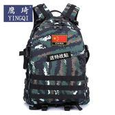 戶外背包虎斑迷彩戰術雙肩包男3D旅游野營登山包特種作戰雙背包