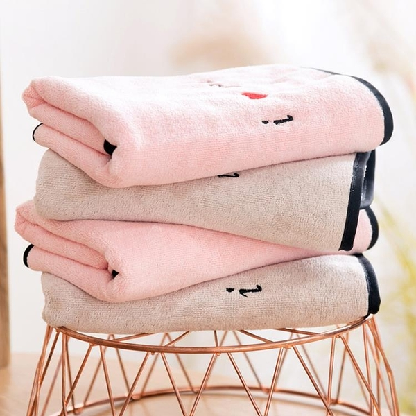 情侶擦臉面巾家用洗臉毛巾兒童加厚成人吸水洗澡巾【雲木雜貨】