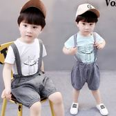 寶寶背帶褲夏2018新款韓版1-3歲男童吊帶