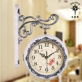 鐘錶/掛鐘 北極星歐式雙面鐘客廳大號兩面掛鐘靜音創意時鐘現代石英鐘錶掛錶 限時8折