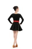 兒童拉丁舞服裝秋冬女童跳舞裙子少兒練功服女孩舞蹈演出服比賽服