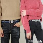 新品皮帶男帆布腰帶男士皮帶雙環扣加長褲腰帶女潮韓版工裝軍訓青年學生 聖誕交換禮物