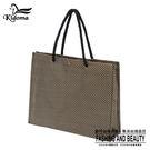 手提袋-編織袋(L)-黑黃金-01C