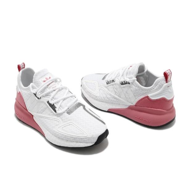 adidas 休閒鞋 ZX 2K Boost W 白 粉紅 女鞋 三葉草 運動鞋 【ACS】 G58090