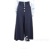 SEE BY CHLOE 排釦設計深藍色大寬口長褲 1720013-34