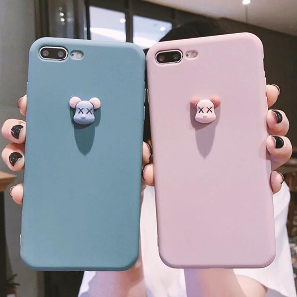 【妃航】暴力熊 iPhone 11/Pro/Pro max 立體/造型/簡約 全包 防撞 矽膠 手機殼/保護殼
