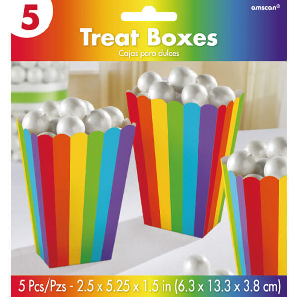 5.25吋爆米花盒5入-彩虹