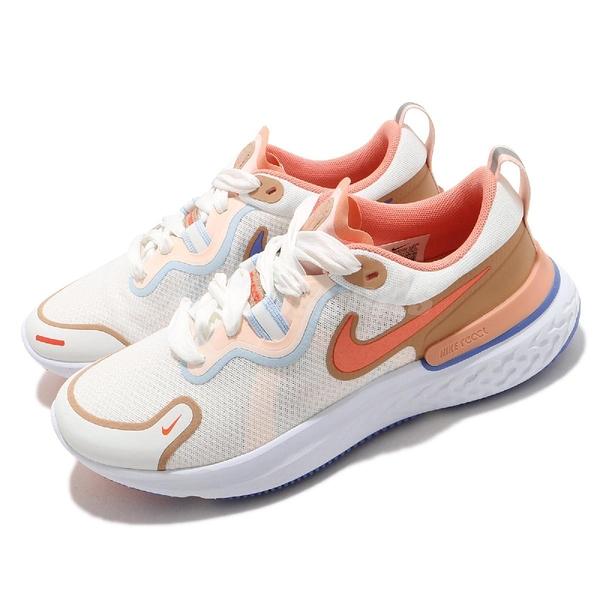 Nike 慢跑鞋 Wmns React Miler 白 橘 女鞋 發泡中底 運動鞋【ACS】 DD8502-181