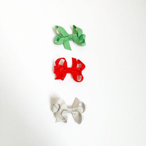 美國 Ribbies Clippies 聖誕小蝴蝶結三入組