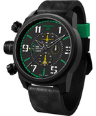 elegantsis Army 叢林戰鬥強悍三眼計時腕錶-黑x綠/48mm ELJF48-OG01LC