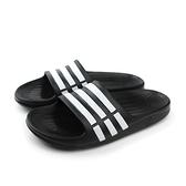 adidas Duramo Slide K 拖鞋 戶外 防水 好穿 童鞋 黑色 童 G06799 no436
