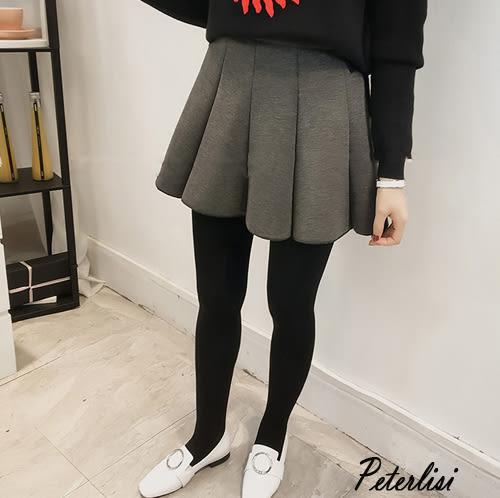 新款春裝時尚太空棉高腰百褶蓬蓬A字裙 T9529D 彼得麗絲