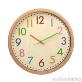 家用個性鐘表時鐘掛鐘客廳時尚現代簡約靜音大氣北歐表創意潮流鐘 美芭QM