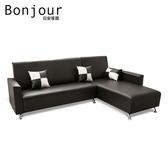 【日安家居】Murray默內MIT美型L型沙發/四色/左右型咖啡色-R