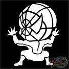 00240507   雕刻貼 背面蜘蛛人/銀款 單入