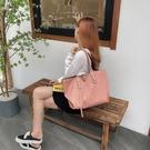 手提包 2020正韓尼龍防水牛津布簡約托特包女士大容量單肩手提包子母大包【快速出貨】