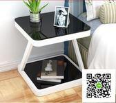 床頭櫃簡約現代臥室收納小桌子創意置物櫃床頭小櫃組裝簡易床邊櫃  DF   一件免運