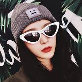 現貨-歐美小框凹造型嘻哈個性封帆三角貓眼墨鏡街拍潮人復古太陽眼鏡224