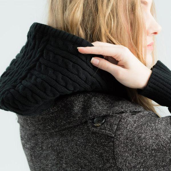 【衣大樂事】雙排釦仿毛短外套