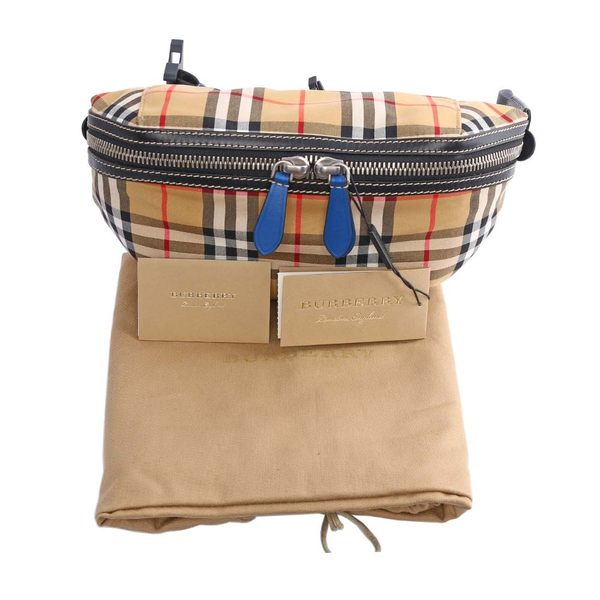 【BURBERRY】Vintage格紋腰包(中型) 4074307 4064T