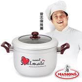 【美心 Masions】珍珠鍋系列-五用豪華蒸煮湯鍋 24CM(珍珠銀