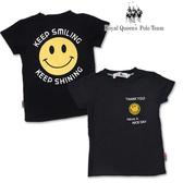 兒童 T恤 微笑圖案 短袖上衣  黑色 中性款 [15617] 小童 春夏 童裝 RQ POLO 5-15碼 現貨