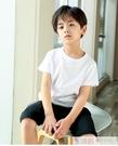 男童短袖t恤純棉兒童純色童裝白色上衣半袖小男孩衣服夏季打底衫 韓慕精品