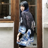 日式道袍和服男女外套薄款雪紡透氣防曬衣【奇趣小屋】
