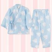 和服女童全棉空調房薄款睡身 春夏兒童純棉紗布日式汗蒸服洗浴服
