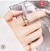 網紅食指鈦鋼戒指女不掉色日韓玫瑰金潮人學生個性大氣時尚 【7月爆款特賣】