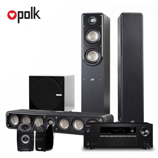 PolkAudio S系列家庭劇院組(S50/S35/TL1) + ONKYO TX-SR383 7.2聲道擴大機 + FIN S1重低音