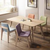 日本直人木業-日式全實木四張貼心椅搭配165公分全實木餐桌(高級山毛櫸實木)