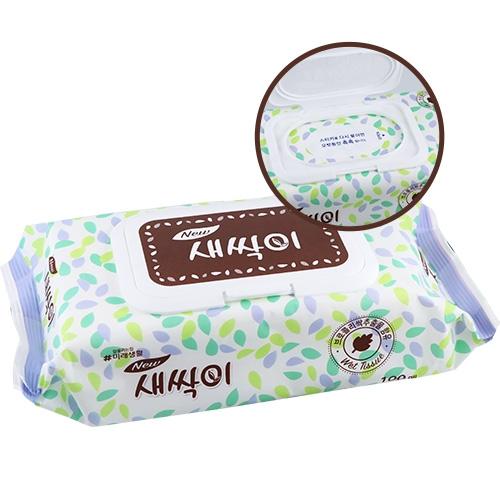韓國 JJtissue 濕紙巾(含蓋) 100入【BG Shop】顏色款式隨機出貨