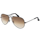 原廠公司貨【Ray-Ban 雷朋 太陽眼鏡】3025-004/51-58-強化玻璃鏡片(#漸層棕鏡面-小版)