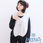betty's貝蒂思 V領兩側開衩無袖毛衣(灰色)