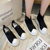 樂福鞋 樂福鞋女2020新款貝殼頭懶人鞋一腳蹬厚底休閒鞋英倫風透氣單鞋女 俏俏家居