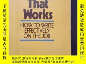二手書博民逛書店writing罕見that works how to write