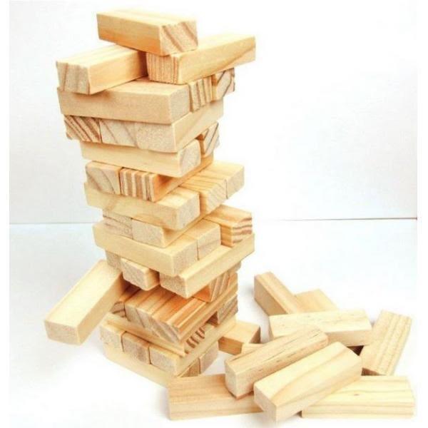 兒童木製玩具 疊疊樂 精品小號原木色 疊疊高積木