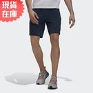 【現貨】Adidas M TECH ID 男裝 短褲 健身 休閒 可調式腰帶 拉鍊口袋 反光 藍【運動世界】GU1746