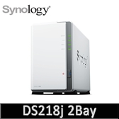 Synology 群暉科技 DiskStation DS218j 2Bay NAS 網路儲存設備(不含HDD/SSD)