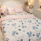 鳳梨小鶴 D3雙人床包與雙人新式兩用被五...