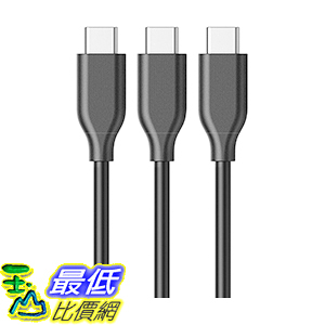 [106美國直購] [3 Pack]Anker PowerLine USB-C to USB 3.0 Cable(3ft)56k Ohm Pull-up Resistor 充電線 傳輸線