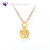 【元大珠寶】『薔薇』黃金墜 加贈玫瑰銀鍊-純金9999國家標準